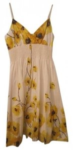 Forever 21 short dress Cream, Yellow & Brown on Tradesy
