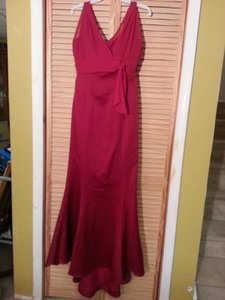 Alfred Angelo Claret Chiffon 6353 Formal Bridesmaid/Mob Dress Size 12 (L)