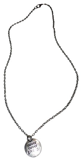 Preload https://img-static.tradesy.com/item/3391078/silver-never-never-give-up-necklace-0-0-540-540.jpg