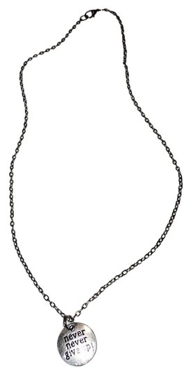 Preload https://item3.tradesy.com/images/silver-never-never-give-up-necklace-3391087-0-0.jpg?width=440&height=440