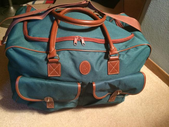 Item - Duffle Green & Brown Canvas Weekend/Travel Bag