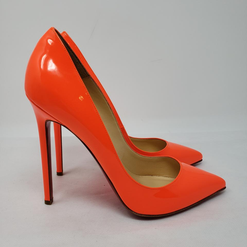 e002dde0dbcf Christian Louboutin Neon Patent Patent Leather Pointed Toe So Kate Orange  Pumps Image 11. 123456789101112