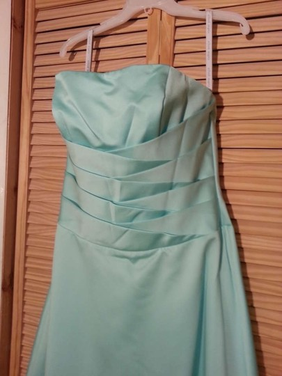 Alfred Angelo Seafoam Satin 6333 Formal Dress Size 14 (L)
