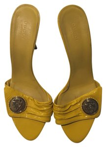 Gucci Yellow Mules