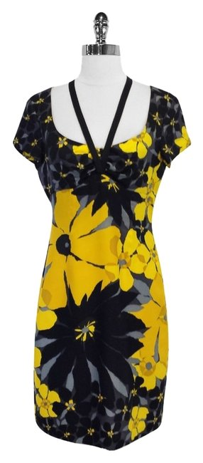 Preload https://img-static.tradesy.com/item/3392401/susana-monaco-black-and-yellow-floral-print-silk-mid-length-short-casual-dress-size-8-m-0-0-650-650.jpg