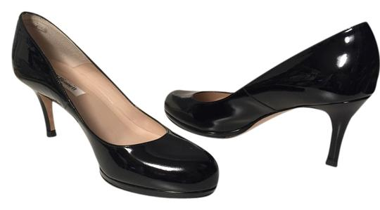 L.K. Bennett Black Patent Pumps
