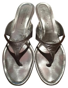Donald J. Pliner J Low Silver Sandals