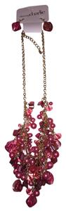 Charming Charlie Pink Beads Necklace and Earring Set