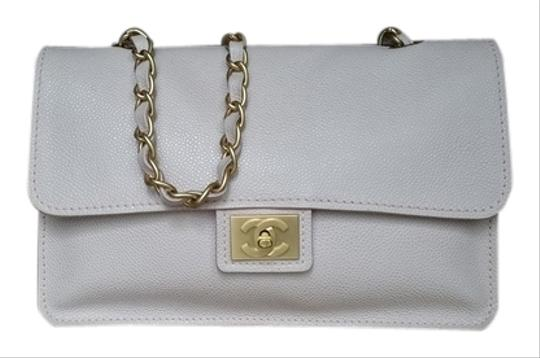 Chanel Vintage Classic Flap Matte Gold Hardware Shoulder Bag