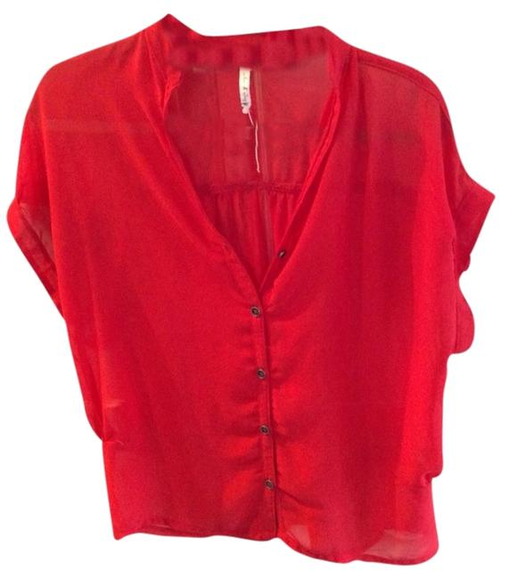 Willow & Clay Sheer Top Red