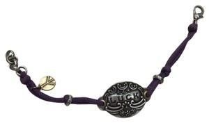 Lucky Brand Purple Cord and Nickel Bracelet