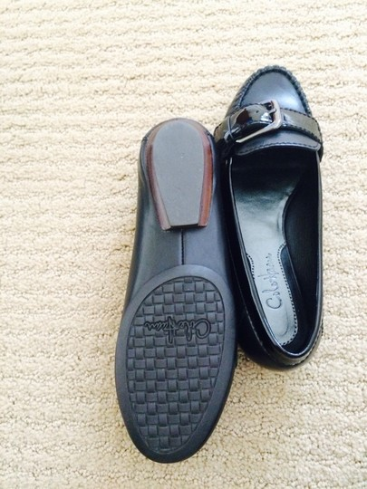 Cole Haan Black/Patent Flats
