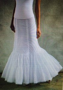 David's Bridal Whire Nylon Fit and Flare Slip 550 Wedding Dress Size 12 (L)