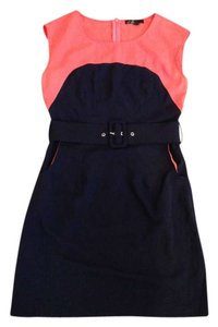 C. Luce short dress Navy and Salmon on Tradesy