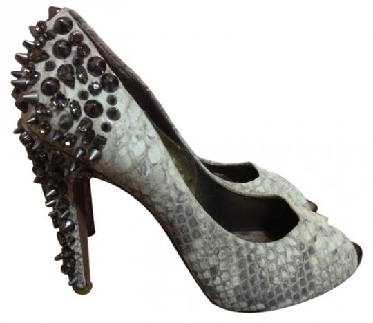 Sam Edelman Gray snakeskin Pumps
