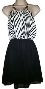 January 7 short dress Black & White on Tradesy