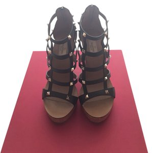 Valentino Black Wedges