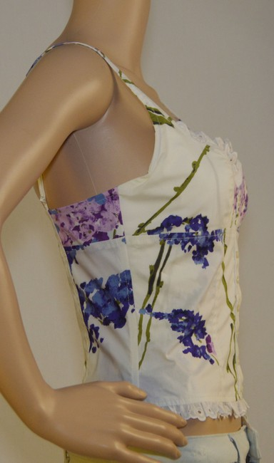 Valentino Top White / navy / purple /lila