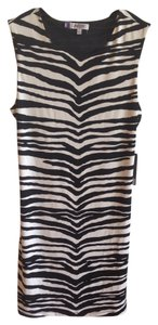 Jennifer Lopez short dress Black Cut-out Zebra Animal Print Mesh Shift Shift on Tradesy