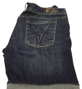 KUT from the Kloth Denim Shorts-Dark Rinse