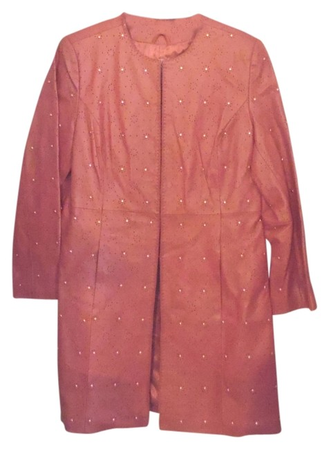 Preload https://img-static.tradesy.com/item/3396829/pamela-mccoy-peach-collections-duster-leather-jacket-size-10-m-0-0-650-650.jpg