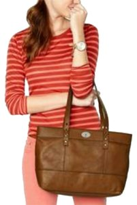 Fossil Hunter Large Shopper Tote in Chestnut Brown