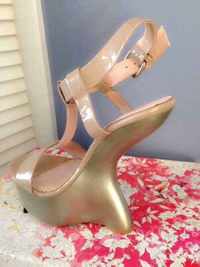 Chinese Laundry Patent Nude Wedges
