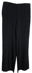 Vince 100% Silk Wide Leg Pants Navy