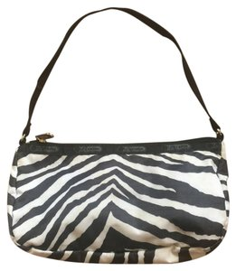 LeSportsac Animal Print Casual Wristlet in Black, white, zebra