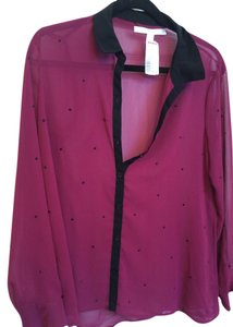 LC Lauren Conrad Size S Top Purple/Black