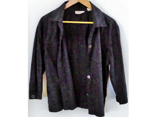 Marsh Landing Floral Lace Button Down Shirt black