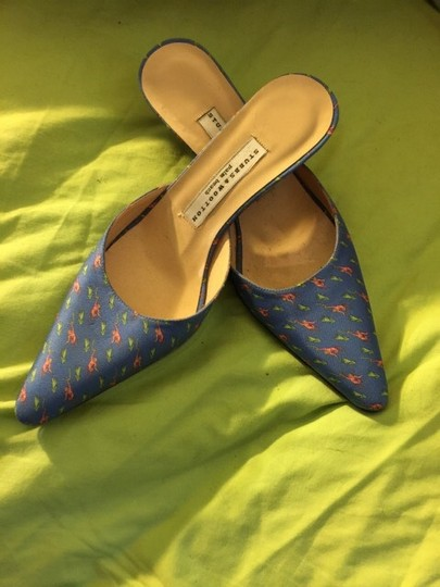Stubbs & Wootton Blue Pink Green Mules
