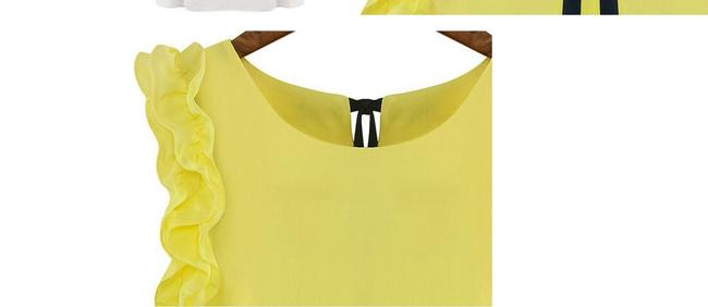 Other Lace White White Green Short Sleeve Green White Chic Lotus Lotus Top Yellow