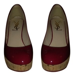 Saint Laurent- REDUCED FOR TODAY!!!!! Ysl Patent Leather Platform Red Wedges