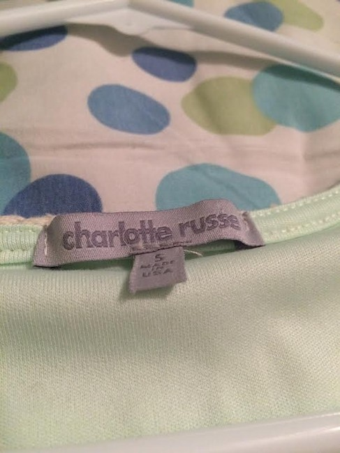 Charlotte Russe Top light blue/white