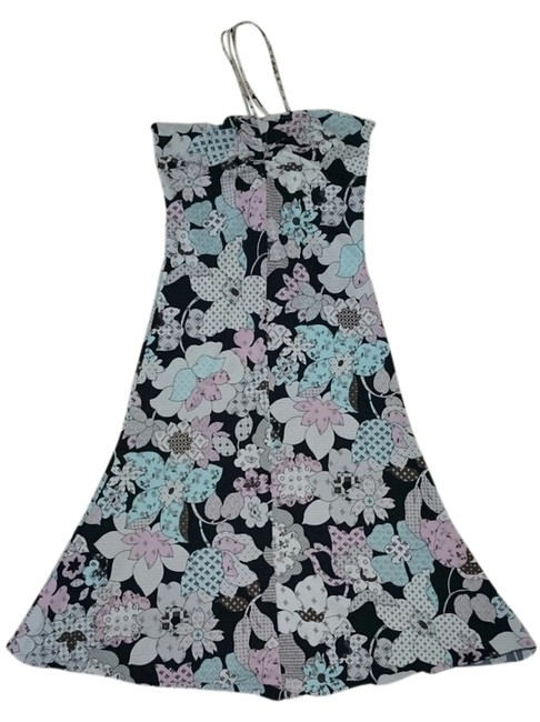 White black pink blue Maxi Dress by Reference