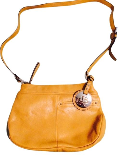 B. Makowsky Butter Soft with Leopard Print Lining Tan Leather Cross Body Bag B. Makowsky Butter Soft with Leopard Print Lining Tan Leather Cross Body Bag Image 1