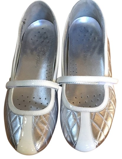 Cole Haan White/silver Flats