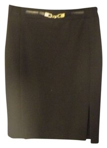 Express Black Suit Skirt with Gold waist detail