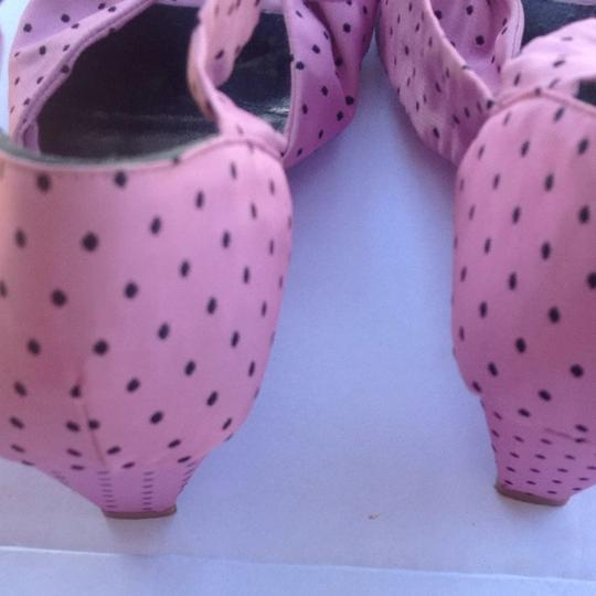LUC BERJEN Pink And Black Wedges
