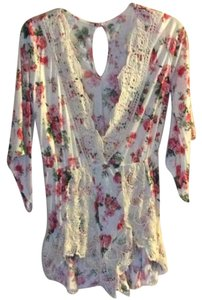 si stylle Floral Lace Romper Tunic