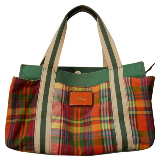 Preload https://img-static.tradesy.com/item/3399652/tommy-hilfiger-rectangular-summer-multicolored-with-green-base-canvas-tote-0-0-540-540.jpg