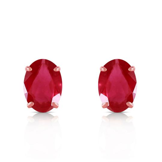 Other 1.8 Carat 14k Solid Rose Gold & Natural Ruby Stud Earrings