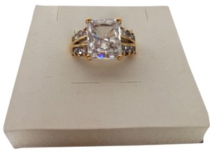 Other Gold plated 925 Sterling Silver Ring CZ stones size 5.