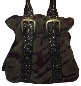 Braccialini Handbag Designer Bling Grommets Unique Shoulder Bag