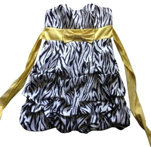 Ruby Rox short dress Zebra on Tradesy