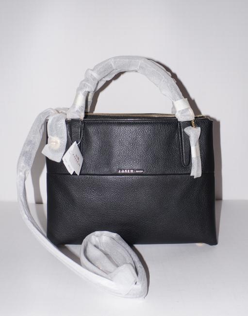 Item - Borough Small Turnlock In Refined #33732 Black Pebble Leather Satchel