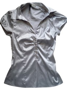 H&M Top Blouse Silver