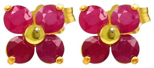 Other 1.15 Carat 14k Solid Yellow Gold & Ruby Stud Earrings