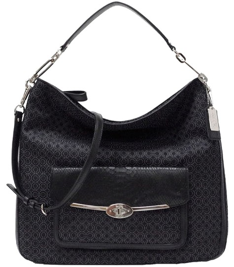 Preload https://img-static.tradesy.com/item/3400735/coach-madison-op-art-pearlescent-black-fabric-with-leather-trim-hobo-bag-0-0-540-540.jpg
